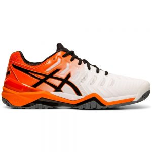 Asics Gel-Resolution 7 HC White/Koi Men's Shoe