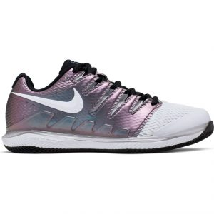 Nike best womens tennis shoes Air Zoom Vapor X White/Black/Psychic Purple