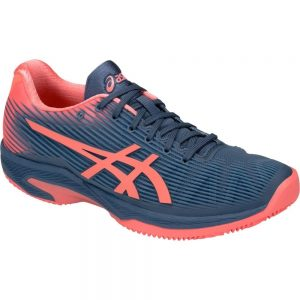 Asics Gel-Solution Speed FF blue / papaya herringbone sole Women's Shoe