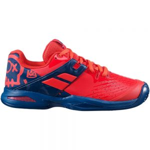 Babolat Propulse Clay Red/Blue Junior Tennis Shoe