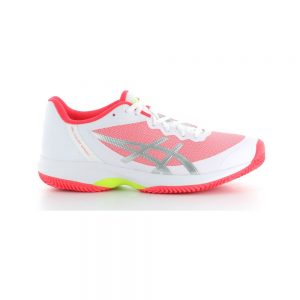 Asics Gel-Court Speed Clay White / Laser Pink Women's Shoe