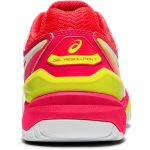 Asics Gel-Resolution 7 (HC) White Laser Pink Women's Tennis Shoes