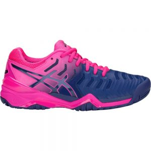 Asics Gel-Resolution 7 Blue Print Women's Tennis Shoes