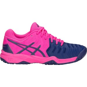 Asics Gel-Resolution 7 Junior Pink Glo/Blue Print