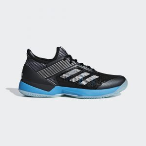Adidas Adizero Ubersonic 3.0 Clay Black/White/Cyan Women's
