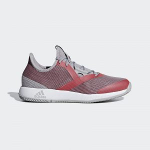 Adidas Adizero Defiant Bounce Women's Light Granite/Shock Red