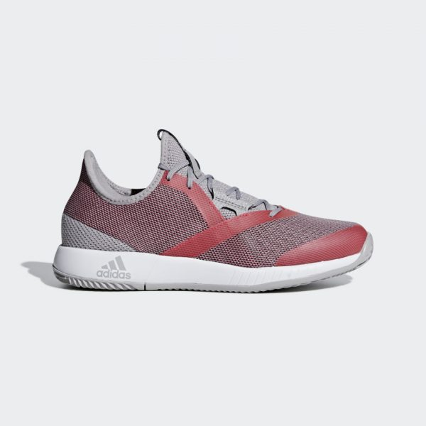 Adidas Adizero Defiant Bounce Women's Light Granite/Shock Red