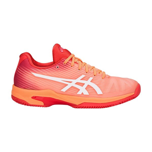 Asics Solution Speed FF Clay Mojave White Women's Tennis Shoes