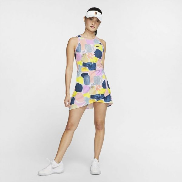 NikeCourt Womens Team Dress Lilac Mist/Off Noir