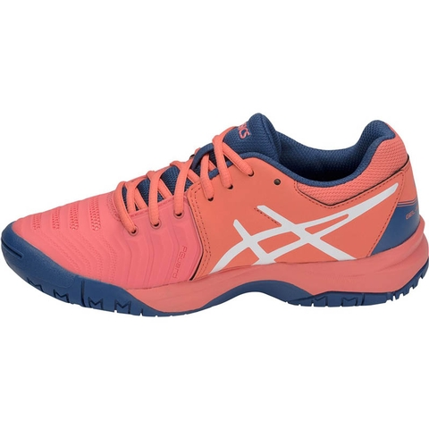 Asics Gel-Resolution 7 Junior Papaya/White