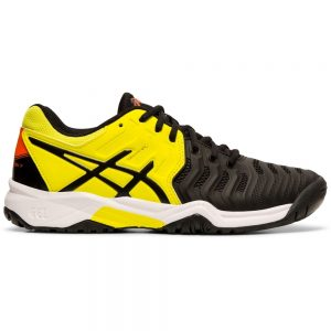 Asics Gel-Resolution 7 Junior Black/Sour Yuzu