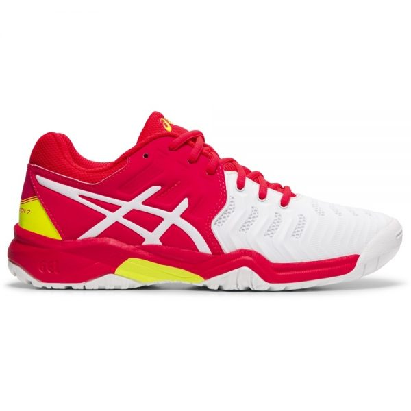 Asics Gel-Resolution 7 Junior Pink White/Laser Pink