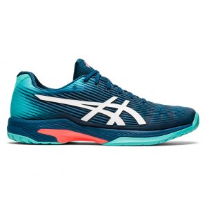 Asics Gel-Solution Speed FF Mako Blue Clay Herringbone Sole Men's Shoe