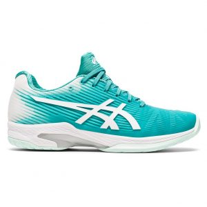 Asics Gel-Solution Speed FF Techno Cyan/White Herringbone Sole Women's Shoe