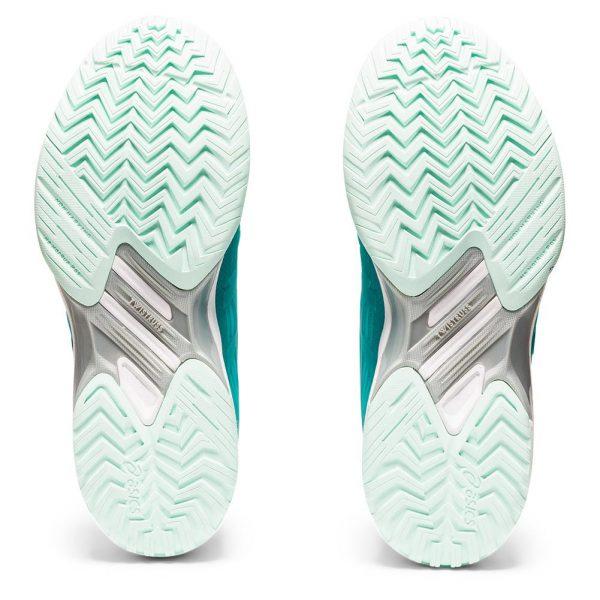 Asics Gel-Solution Speed FF Techno Cyan/White Herringbone Sole Women's Shoe