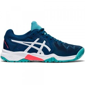 Asics Gel-Resolution 8 Mako Blue/White Junior Shoe