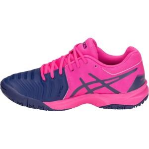 Asics Gel-Resolution 7 Junior Pink Glo/Blue Print