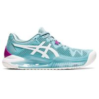 Asics Gel Resolution 8 Womens HC Smoke Blue/White Tennis Shoes