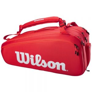 Wilson Super Tour 15pk Tennis Bag – Red