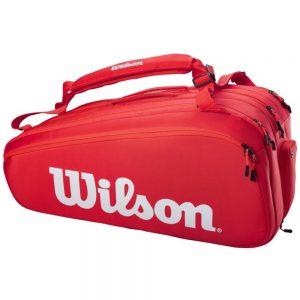 Wilson Super Tour 15pk Tennis Bag – Red