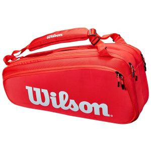 Wilson Super Tour 6pk Tennis Bag – Red