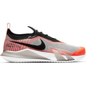 NikeCourt React Vapor NXT White Black Crimson Men's Tennis Shoes