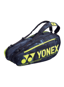 Yonex Pro 6 Racquet Black Yellow Tennis Bag