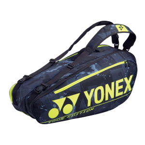 Yonex Pro 6 Racquet Black Yellow Tennis Bag