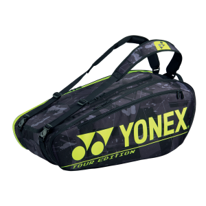 Yonex Pro 9 Racquet Black Yellow Tennis Bag