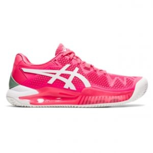 Asics Gel Resolution 8 Clay Womens Pink Cameo Tennis Shoes