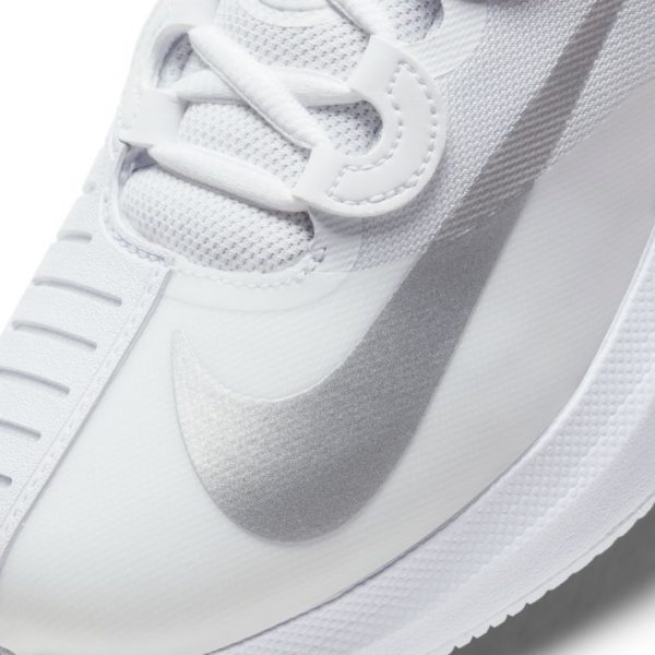 NikeCourt Air Zoom GP Turbo White Silver Women's Tennis Shoes