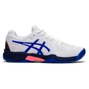 Asics Gel Resolution 8 GS White/Lapis Lazuli Blue Junior Tennis Shoes