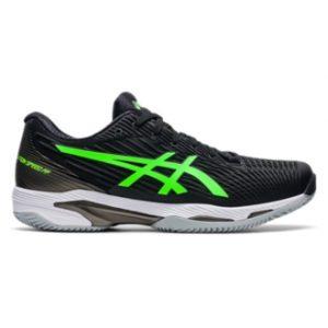 Asics Solution Speed FF2 Clay Black/Green Gecko Mens Tennis Shoe